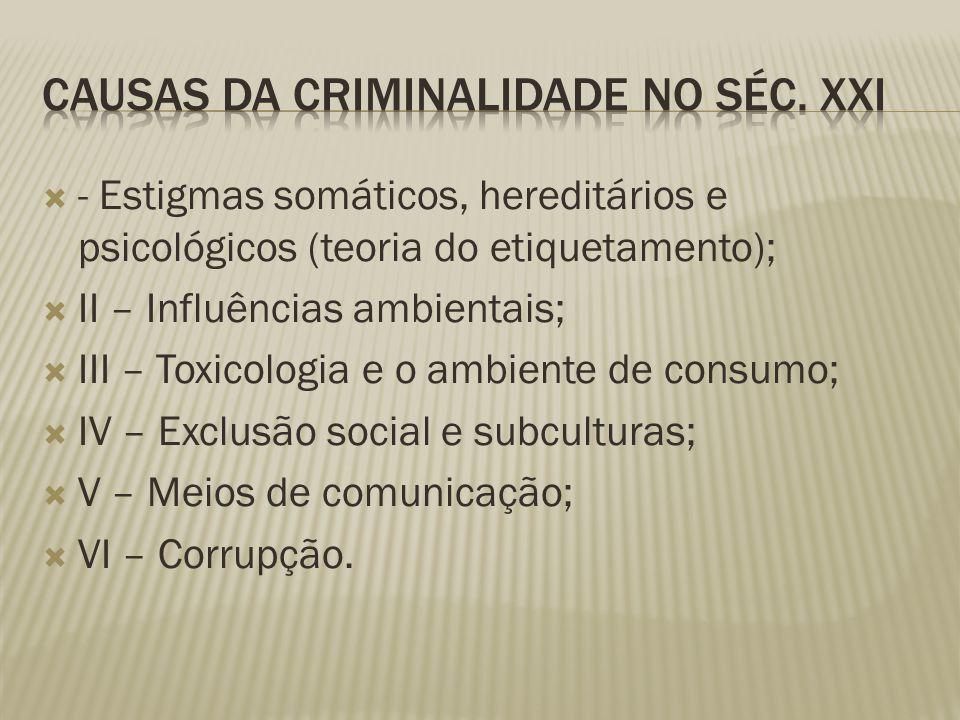 Causas da Criminalidade no Séc. XXI