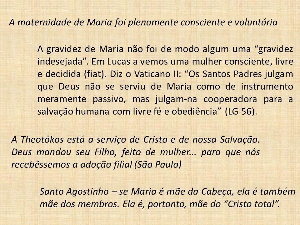 A maternidade de Maria foi plenamente consciente e voluntária