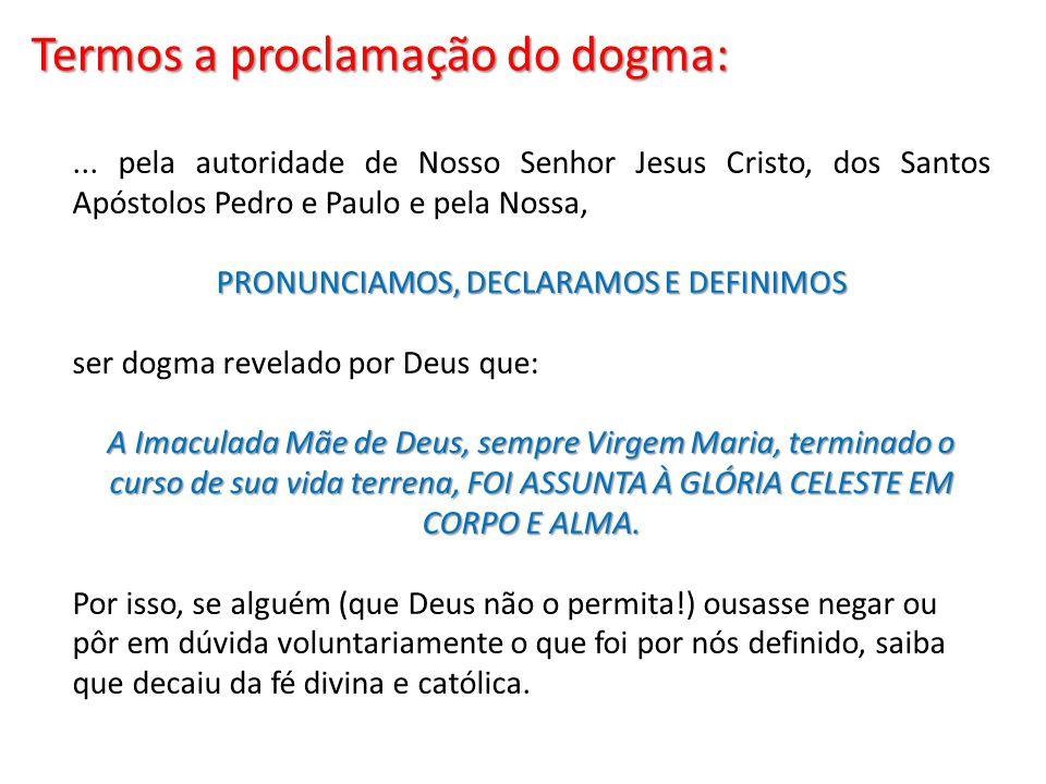 PRONUNCIAMOS, DECLARAMOS E DEFINIMOS