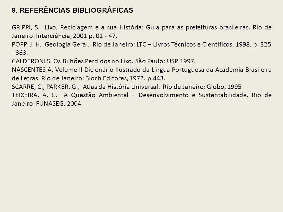 9. REFERÊNCIAS BIBLIOGRÁFICAS