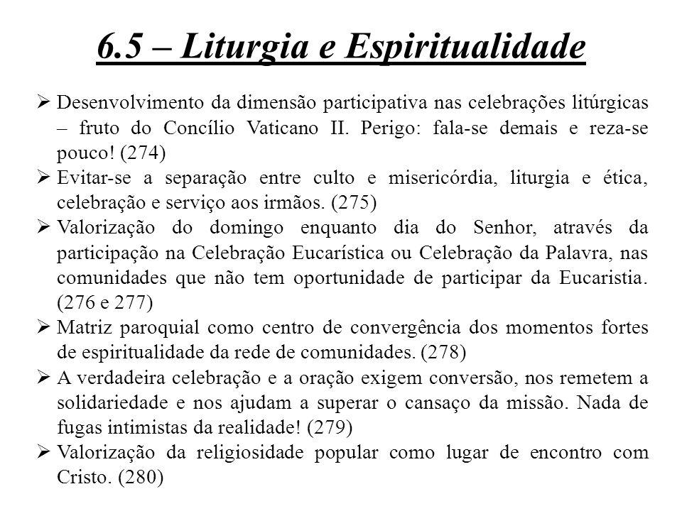 6.5 – Liturgia e Espiritualidade