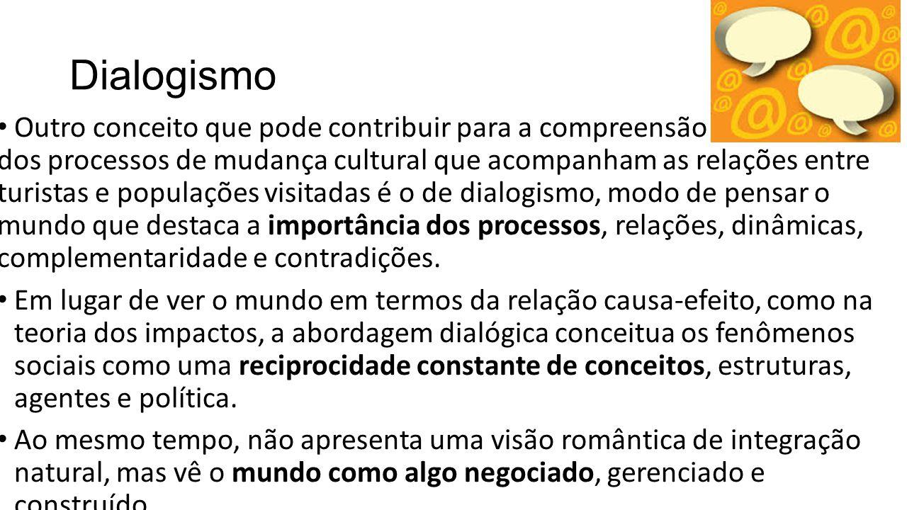 Dialogismo Outro conceito que pode contribuir para a compreensão