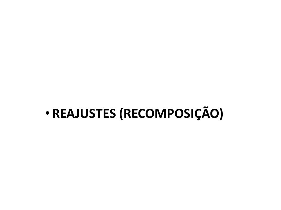 REAJUSTES (RECOMPOSIÇÃO)