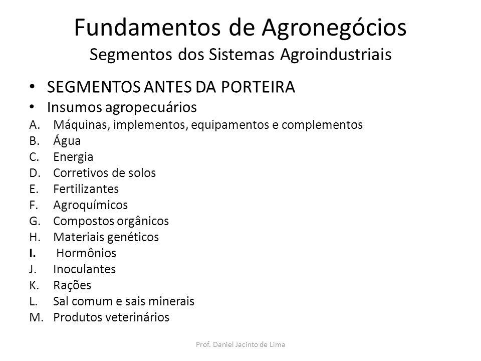 Fundamentos de Agronegócios Segmentos dos Sistemas Agroindustriais