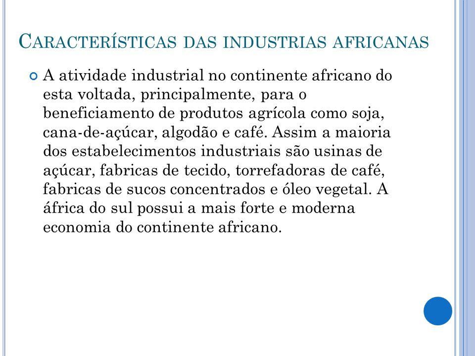 Características das industrias africanas