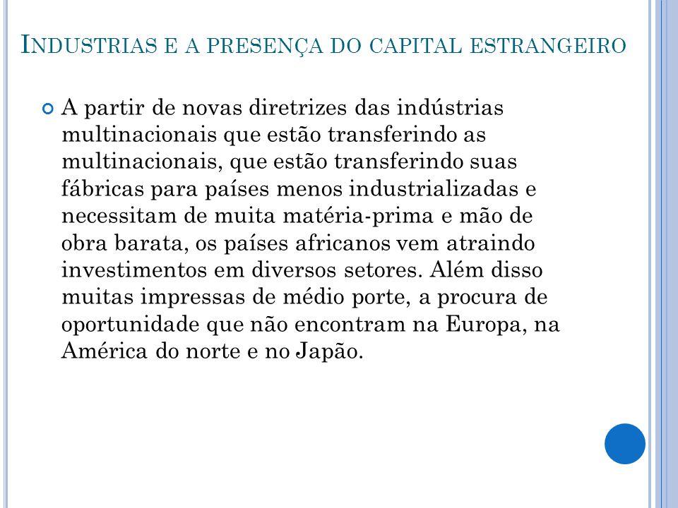 Industrias e a presença do capital estrangeiro