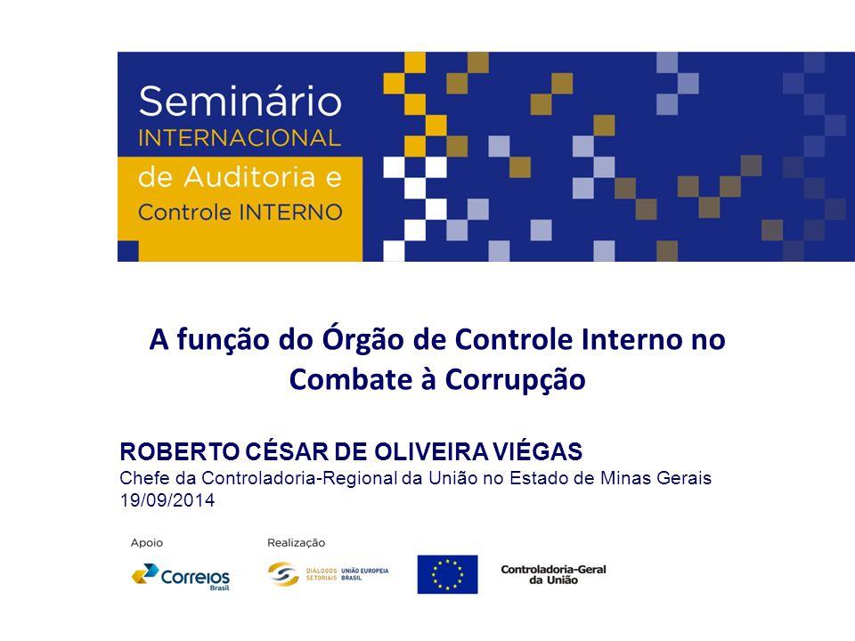 A função do Órgão de Controle Interno no Combate à Corrupção