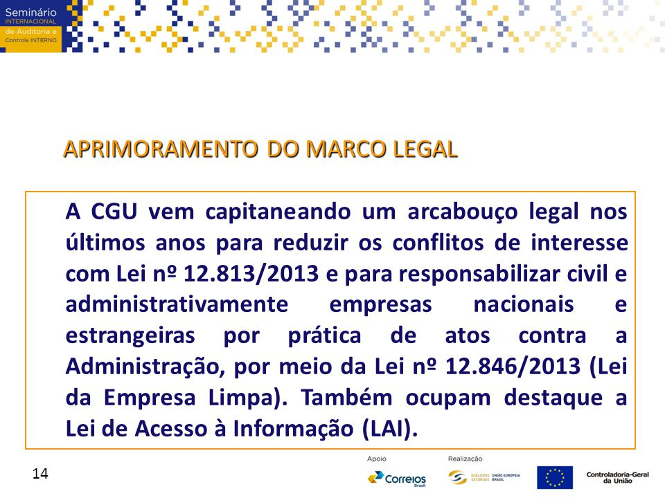 APRIMORAMENTO DO MARCO LEGAL