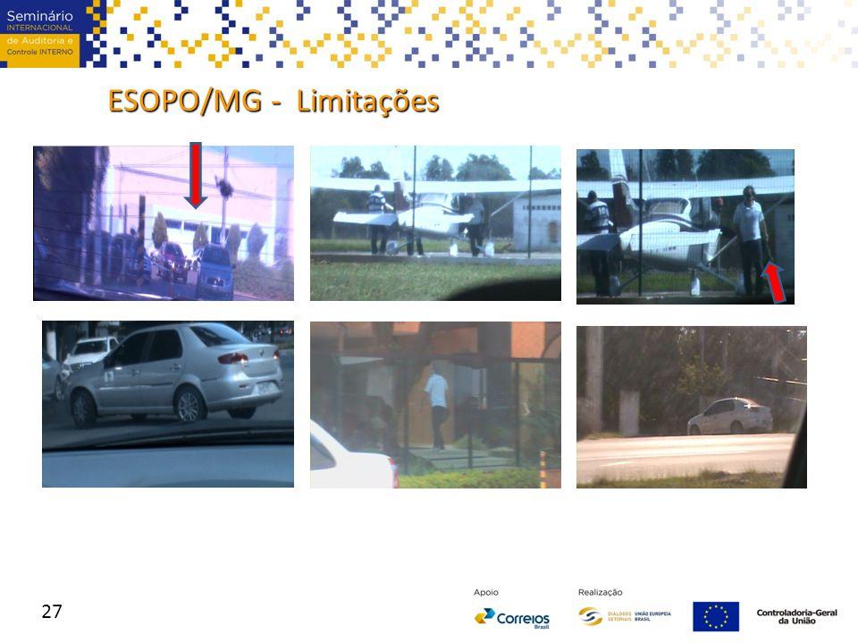 ESOPO/MG - Limitações 27
