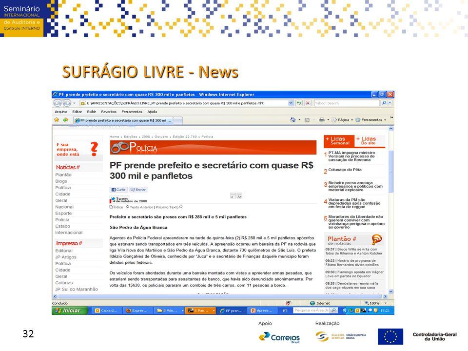 SUFRÁGIO LIVRE - News 32