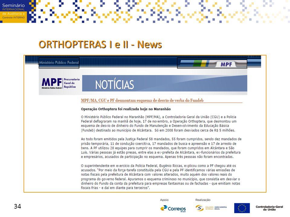 ORTHOPTERAS I e II - News