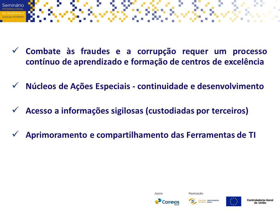 Combate às fraudes e a corrupção requer um processo contínuo de aprendizado e formação de centros de excelência