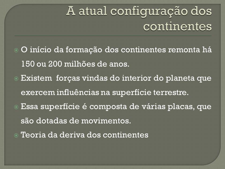 A atual configuração dos continentes