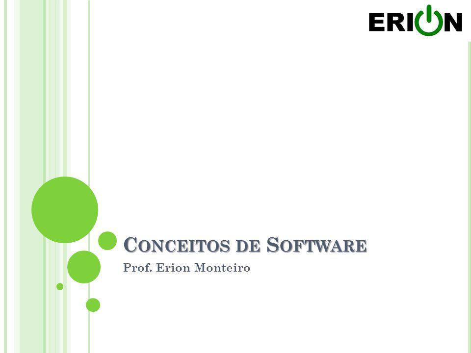 Conceitos de Software Prof. Erion Monteiro