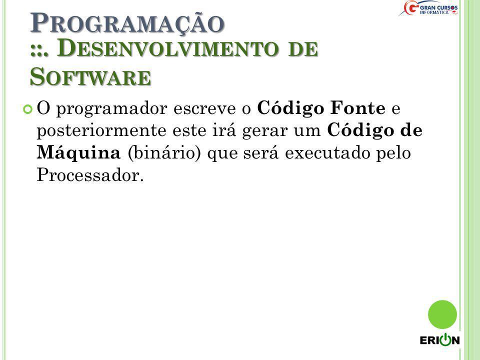 Programação ::. Desenvolvimento de Software