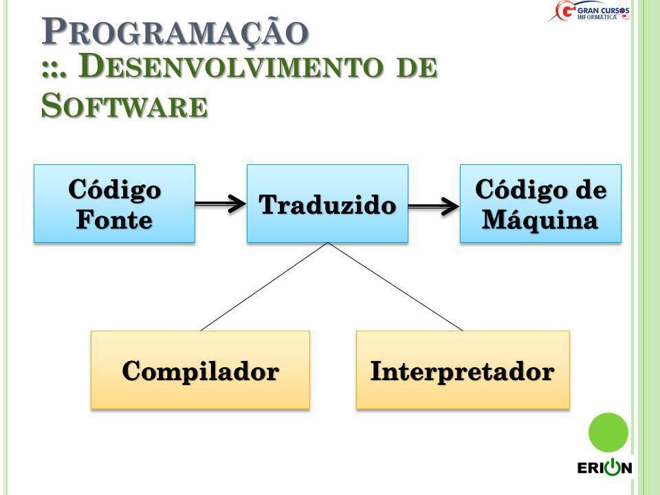 Programação ::. Desenvolvimento de Software Código Fonte Traduzido