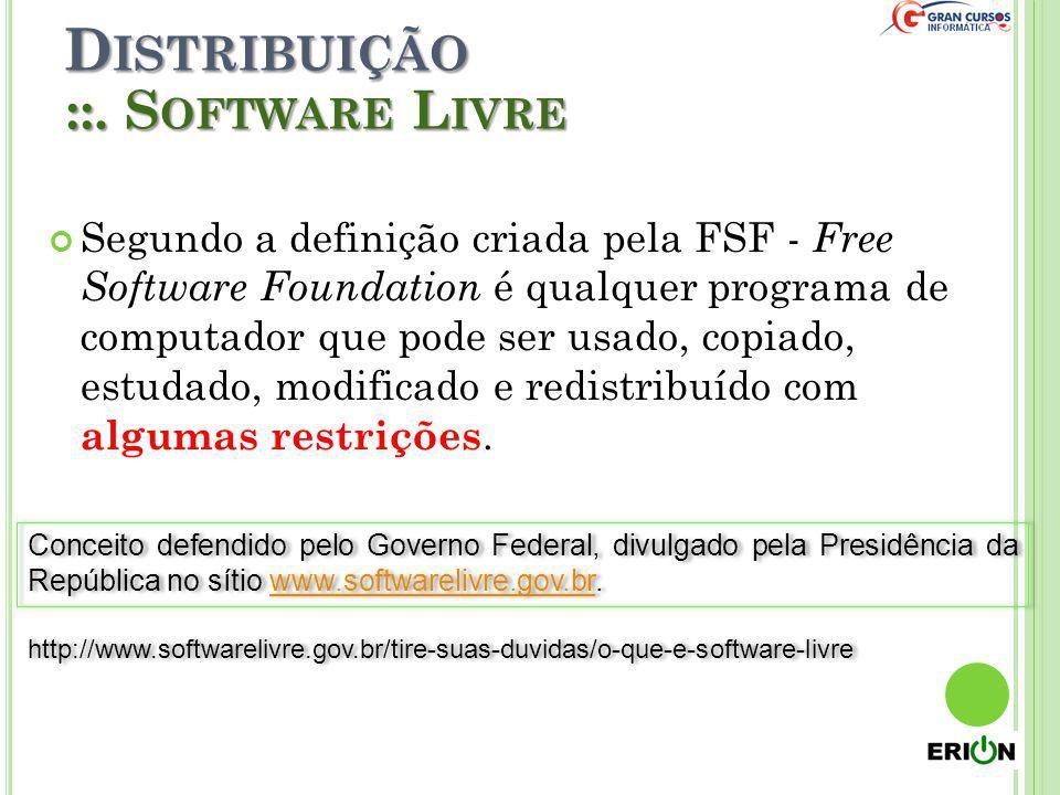 Distribuição ::. Software Livre
