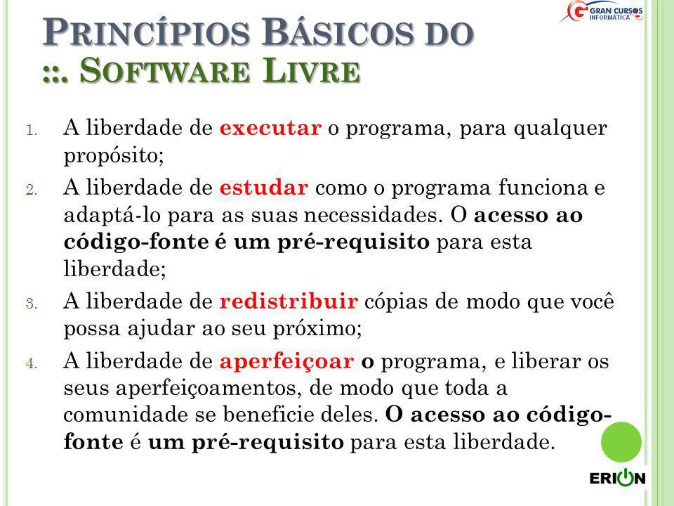 Princípios Básicos do ::. Software Livre