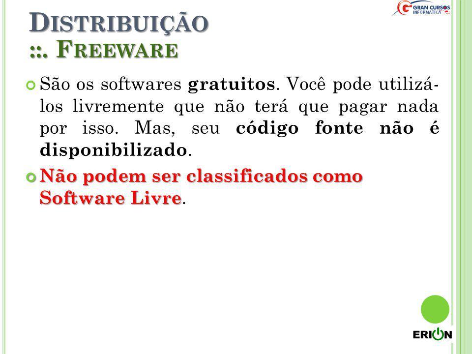 Distribuição ::. Freeware