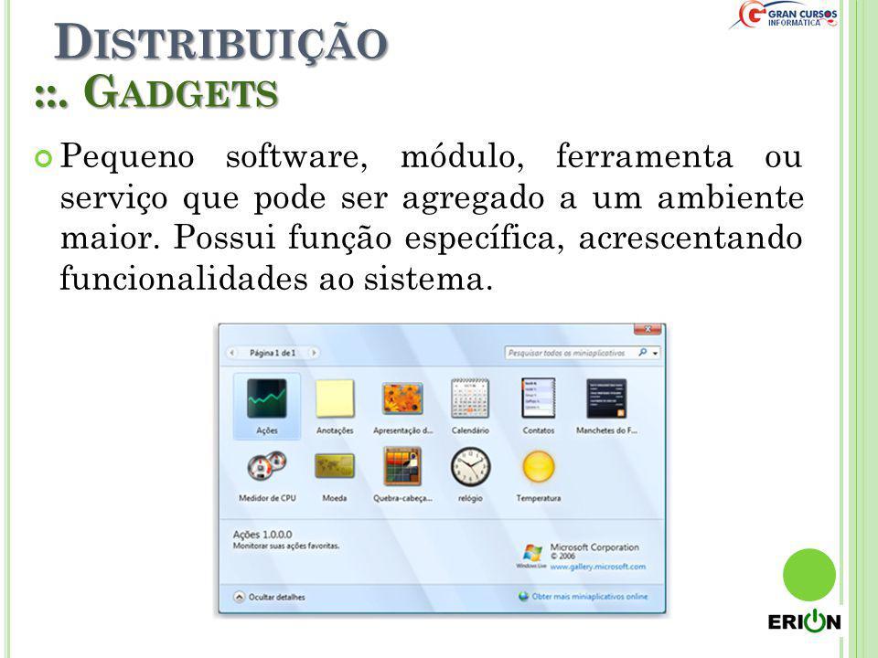 Distribuição ::. Gadgets