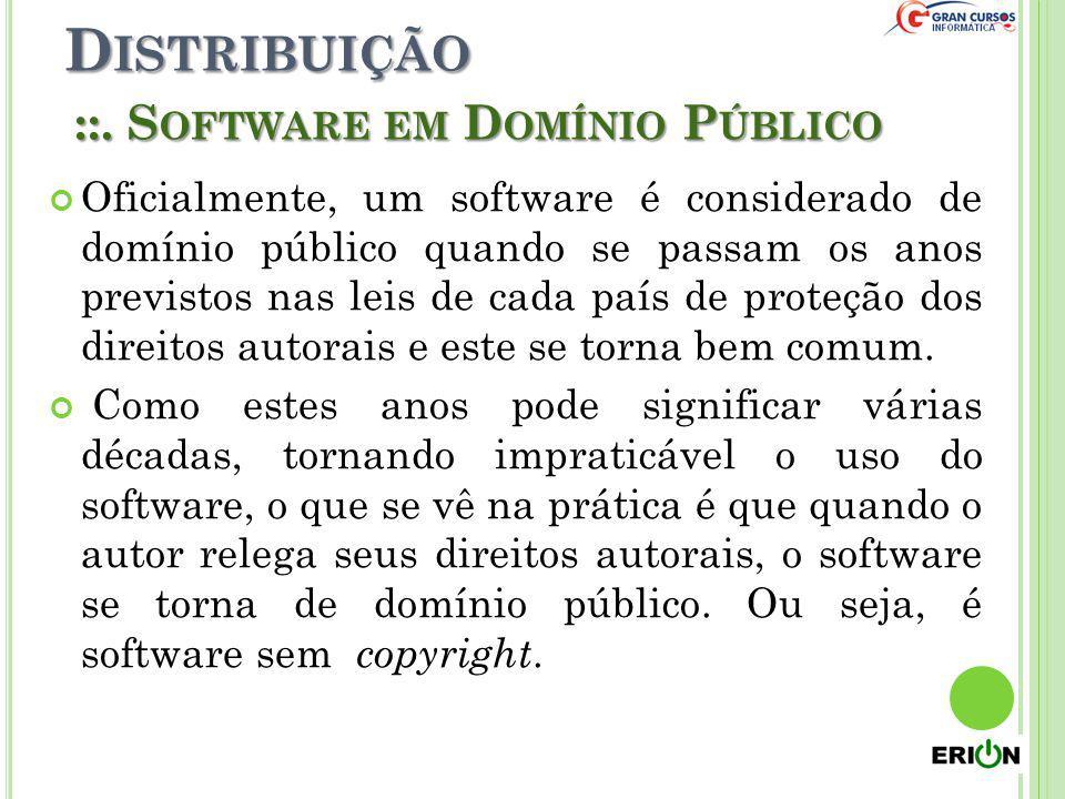 Distribuição ::. Software em Domínio Público