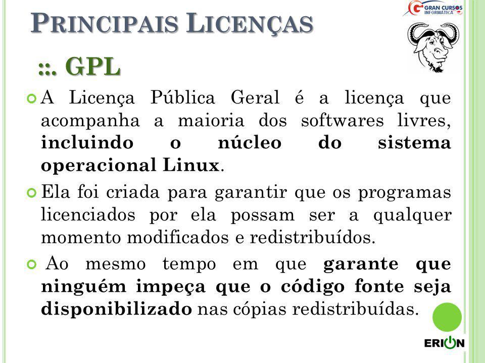 Principais Licenças ::. GPL