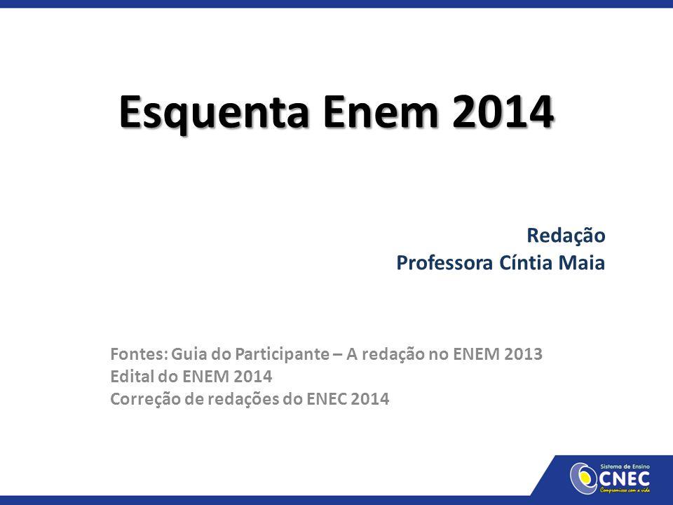 Esquenta Enem 2014 Redação Professora Cíntia Maia