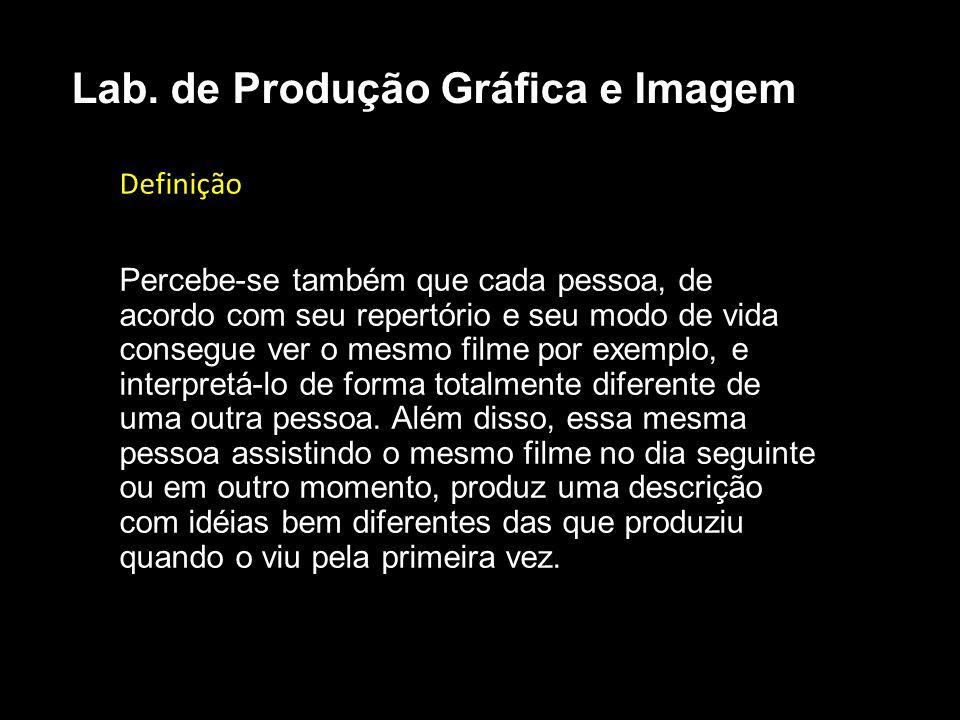 Lab. de Produção Gráfica e Imagem