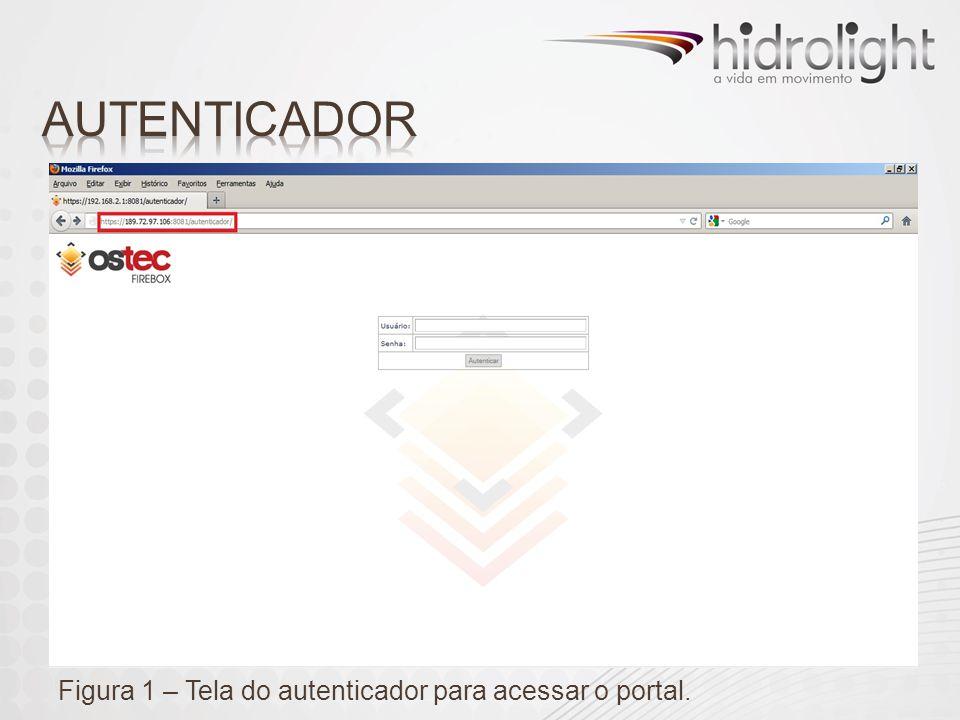 AUTENTICADOR Figura 1 – Tela do autenticador para acessar o portal.