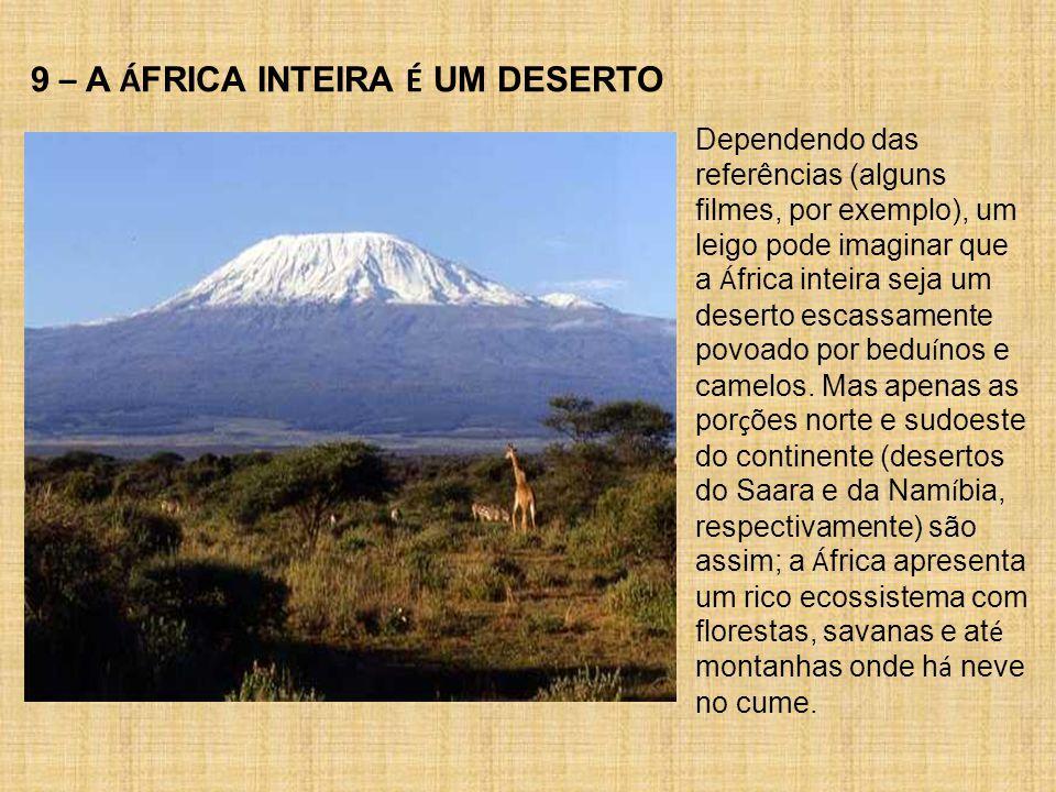 9 – A ÁFRICA INTEIRA É UM DESERTO
