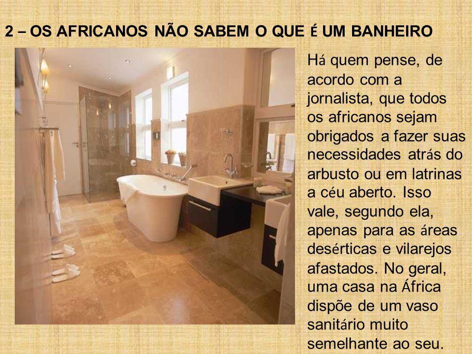 2 – OS AFRICANOS NÃO SABEM O QUE É UM BANHEIRO