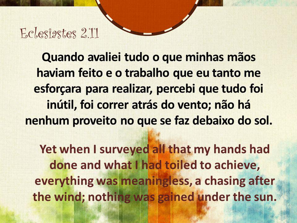 Eclesiastes 2.11