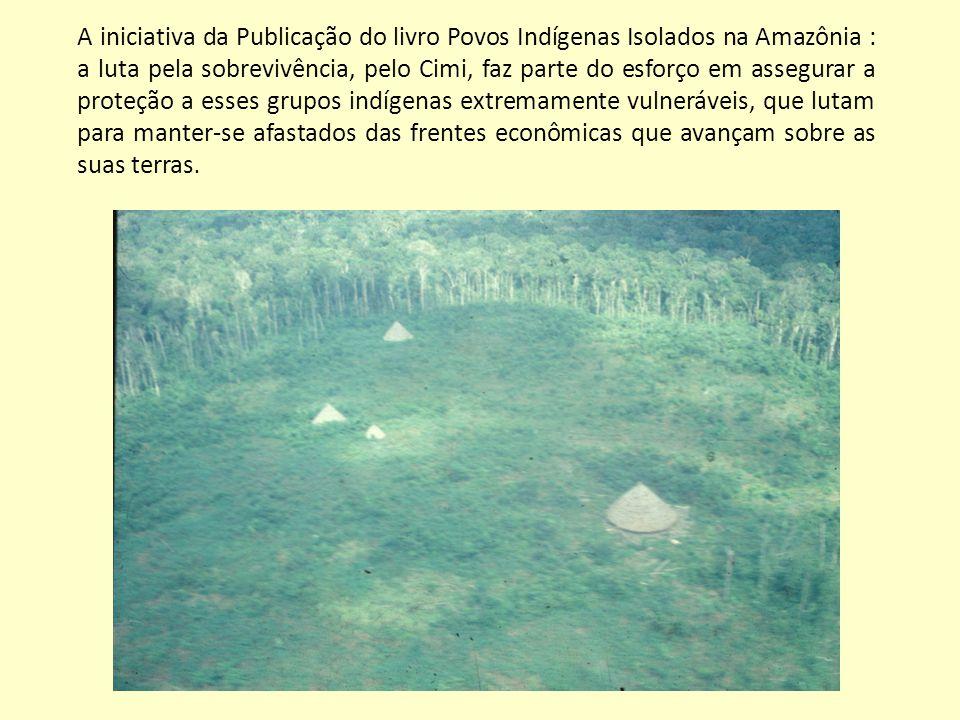 A iniciativa da Publicação do livro Povos Indígenas Isolados na Amazônia : a luta pela sobrevivência, pelo Cimi, faz parte do esforço em assegurar a proteção a esses grupos indígenas extremamente vulneráveis, que lutam para manter-se afastados das frentes econômicas que avançam sobre as suas terras.