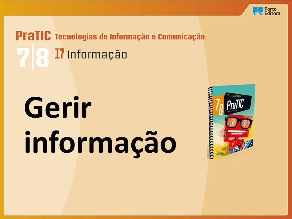 Gerir informação