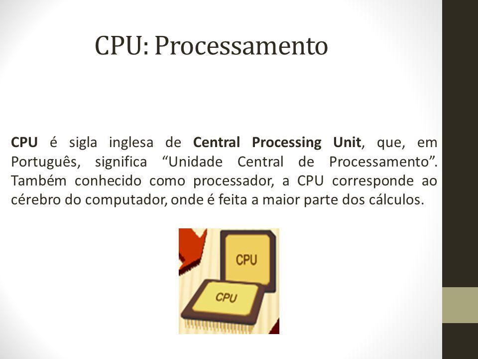 CPU: Processamento