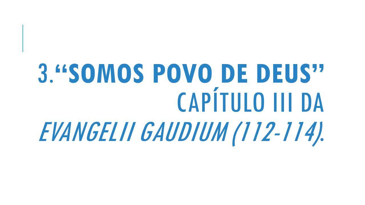 3. Somos Povo de Deus capítulo III da Evangelii gaudium (112-114).