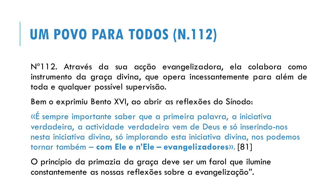 Um povo para todos (n.112)