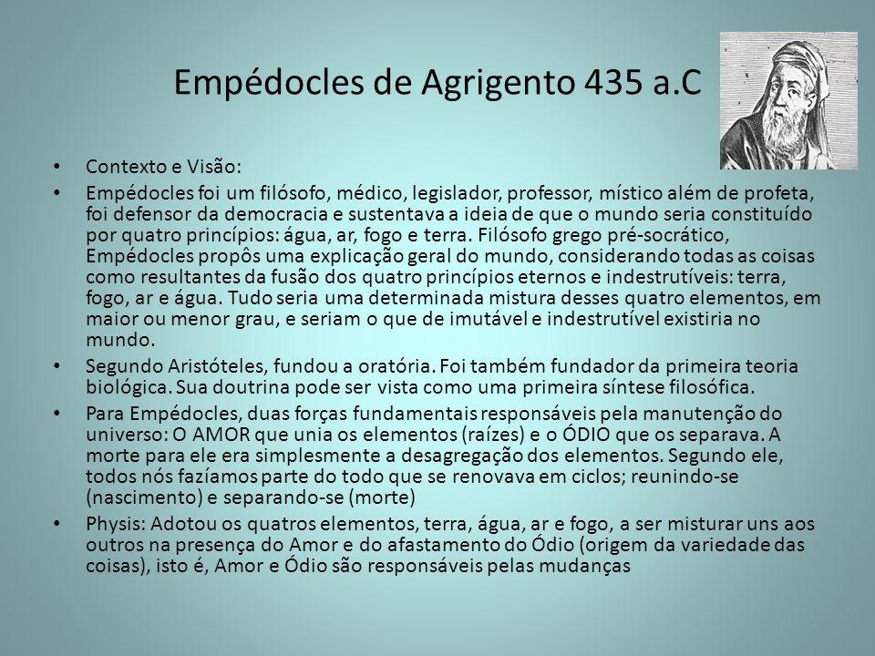Empédocles de Agrigento 435 a.C