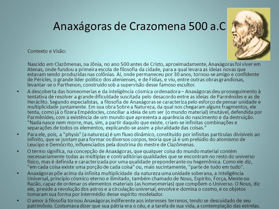 Anaxágoras de Crazomena 500 a.C