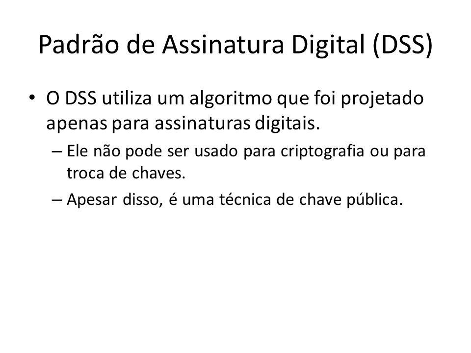 Padrão de Assinatura Digital (DSS)