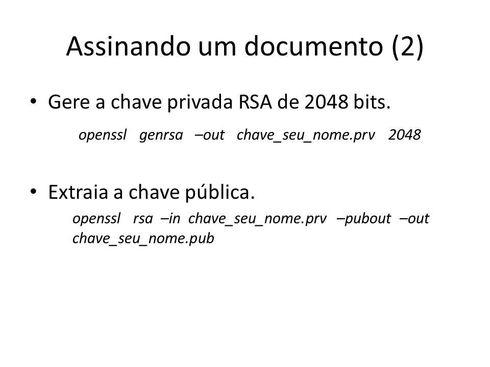Assinando um documento (2)