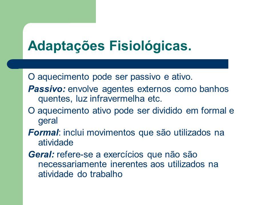 Adaptações Fisiológicas.