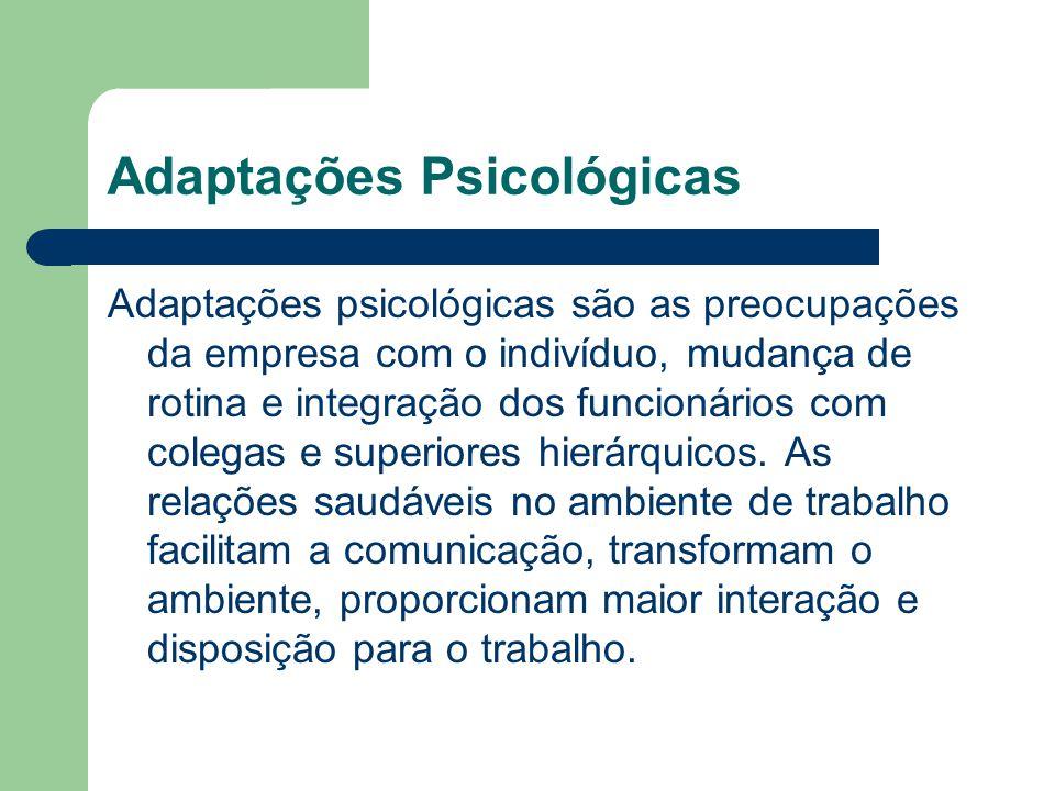 Adaptações Psicológicas
