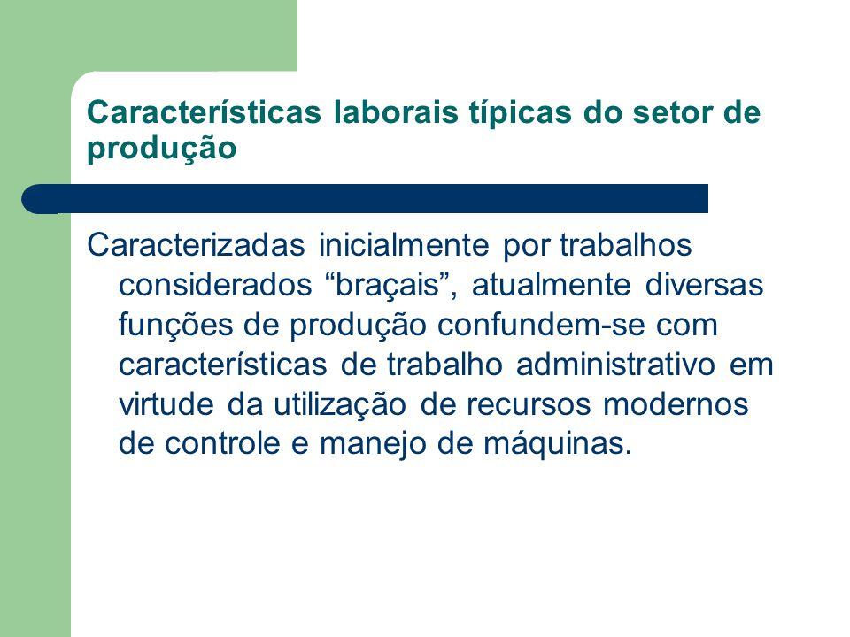 Características laborais típicas do setor de produção