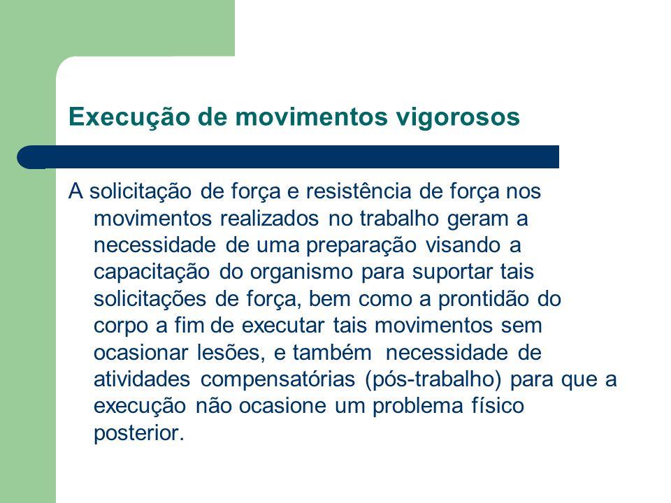 Execução de movimentos vigorosos