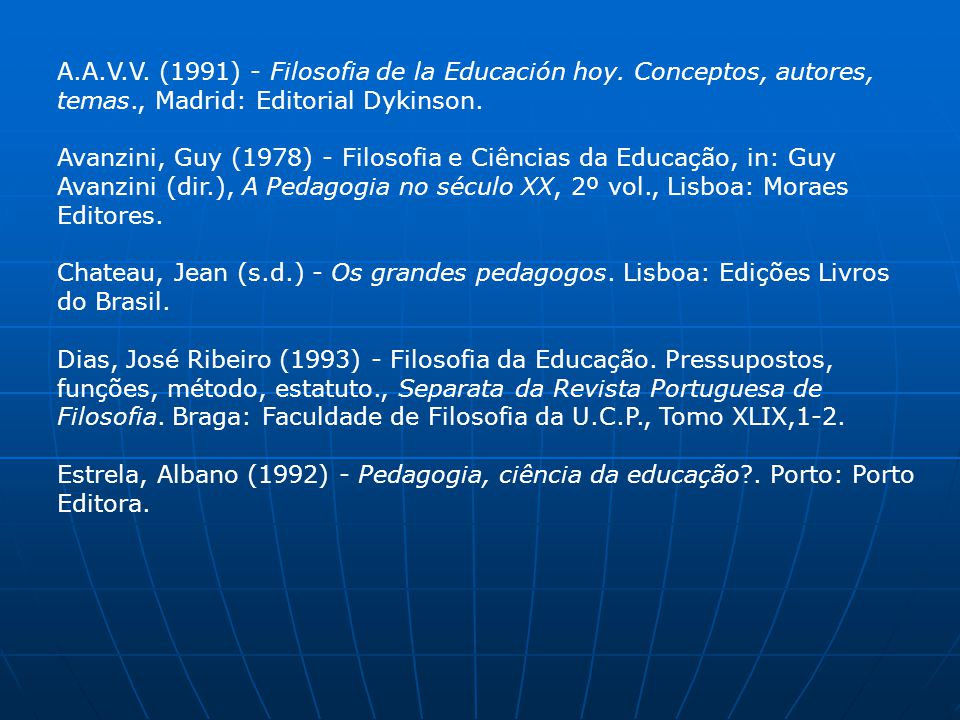 A. A. V. V. (1991) - Filosofia de la Educación hoy