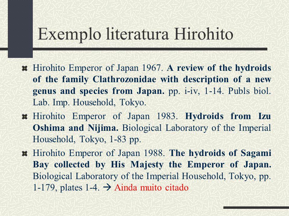 Exemplo literatura Hirohito