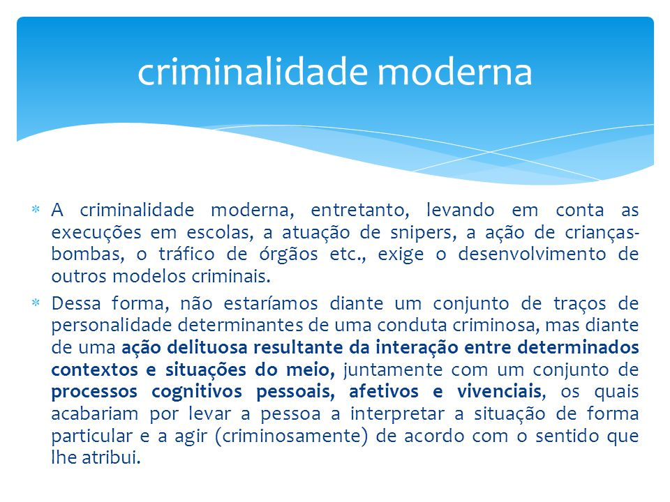 criminalidade moderna