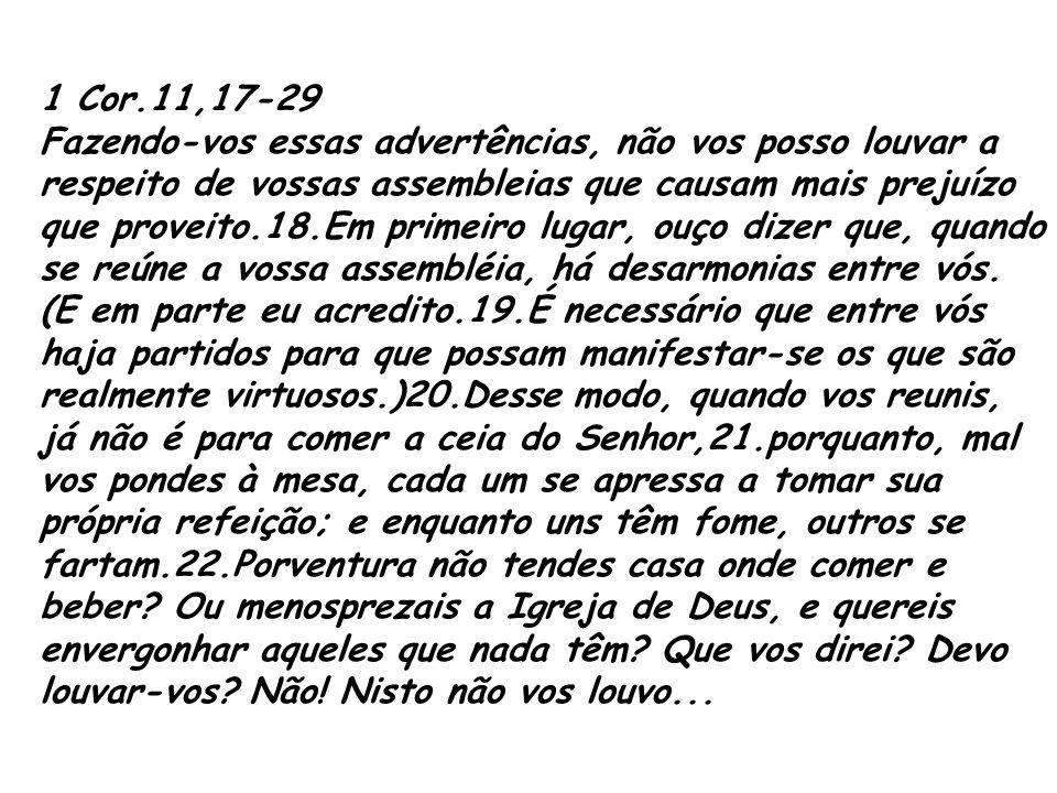 1 Cor.11,17-29
