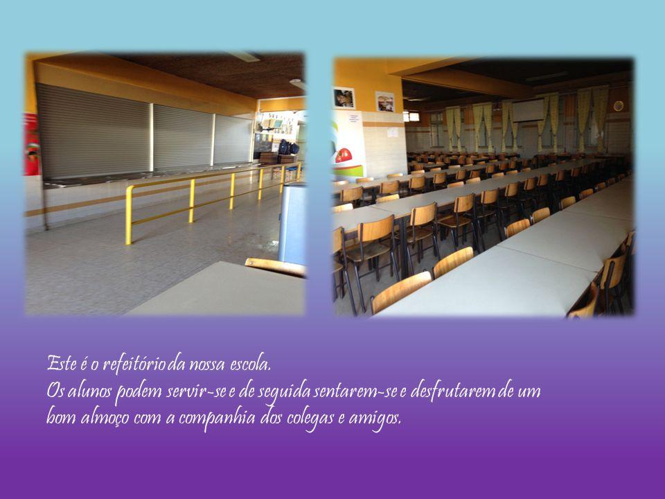 Este é o refeitório da nossa escola.
